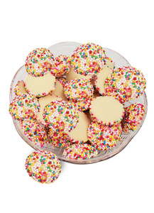White Chocolate Nonpareils - Multi-Colored
