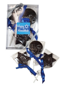 Hanukkah Solid Dark Chocolate Trio