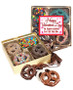 Valentine's Day Chocolate Covered 16pc Pretzel Gift Box - Employee