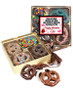 Valentine's Day Chocolate Covered 16pc Pretzel Gift Box - Family