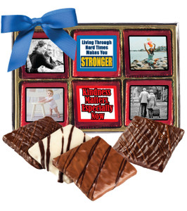 Connecting Friends 12pc Chocolate Graham Custom Photo Box