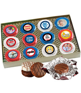 Connecting Friends 12pc Chocolate Oreo Photo Cookie Box