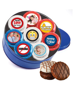 Connecting Friends 16pc Chocolate Oreo Photo Cookie Tin