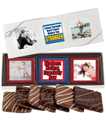 Connecting Friends 6pc Chocolate Graham Photo Box