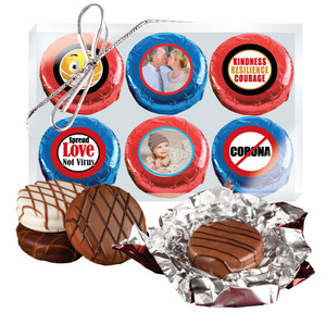 Connecting Friends 6pc Chocolate Oreo Photo Cookie Box
