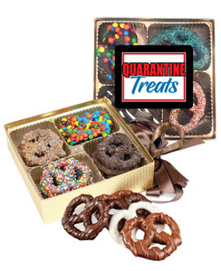 Connecting Friends 16pc Chocolate Covered Pretzel Box