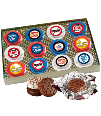 Connecting Friends 12pc Chocolate Oreo Cookie Box