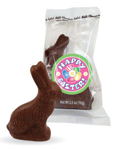Mini Solid Milk Chocolate Easter Bunny Bag