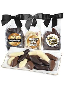 Happy New Year Chocolate Enrobed Swedish Fish