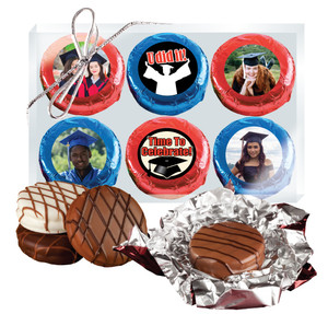 Graduation 6pc Chocolate Oreo Photo Cookie Box