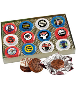 Graduation 12pc Chocolate Oreo Photo Cookie Box
