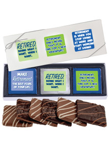 Retirement 6pc Chocolate Graham Box