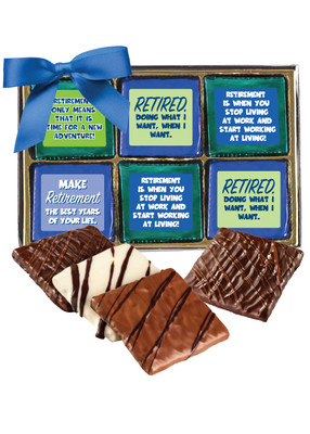 Retirement 12pc Chocolate Graham Box