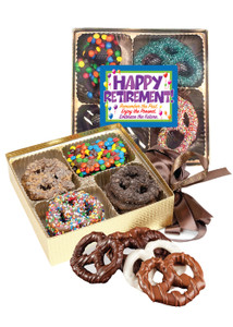 Retirement 16pc Chocolate Covered Pretzel Box