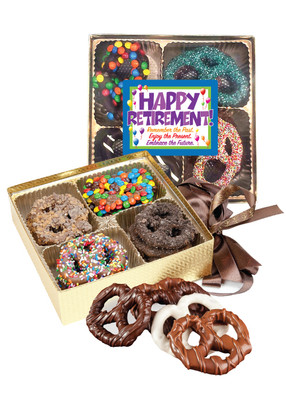 Retirement 16pc Chocolate Covered Pretzel Box
