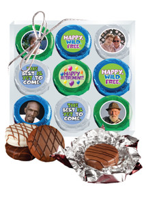 Retirement 9pc Chocolate Oreo Photo Box