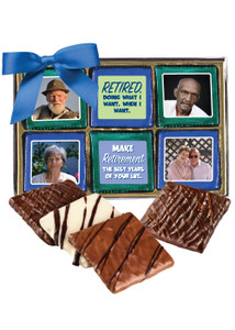 Retirement 12pc Chocolate Graham Custom Photo Box