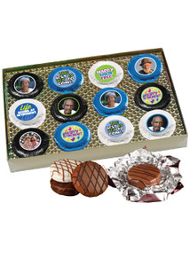 Retirement 12pc Chocolate Oreo Photo Cookie Box