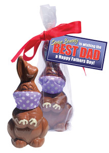 Chocolate Father's Day Quarantine Bunny