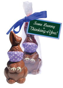 Thinking of You Quarantine Chocolate Bunny Gift