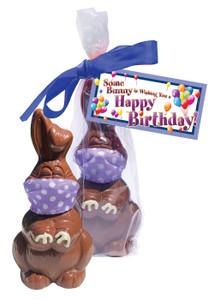 Happy Birthday Quarantine Chocolate Bunny