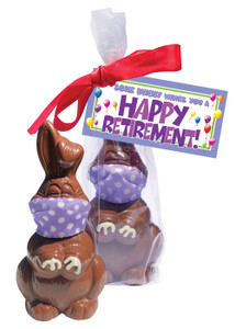 Retirement Quarantine Chocolate Bunny