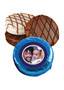 Father's Day Photo Chocolate Oreo Cookie - Blue