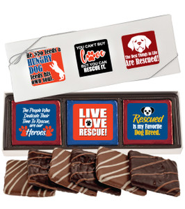 Dog Rescue Chocolate Graham 6pc Box