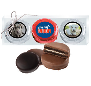 Dog Rescue Chocolate Oreo Photo 3pc Box