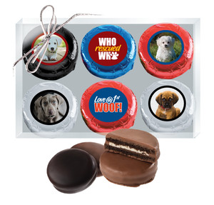 Dog Rescue Chocolate Oreo Photo 6pc Box
