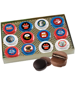 Dog Rescue 12pc Chocolate Oreo Photo Box
