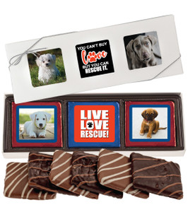 Dog Rescue Chocolate Graham 6pc Photo Box