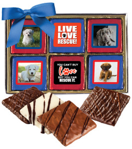 Dog Rescue Chocolate Graham Photo 12pc Box