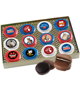 Cat Rescue Chocolate Oreo Photo 12pc Box