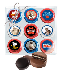 Cat Rescue Chocolate Oreo 9pc Photo Box