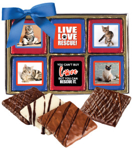 Cat Rescue Chocolate Graham 12pc Photo Box
