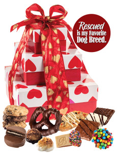 Dog Rescue 3 Tier Tower of Treats - Hearts
