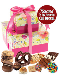 Cat Rescue 2 Tier Tower of Gourmet Treats