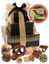 New Home 3 Tier Tower of Treats - Gold & Brown Stripes