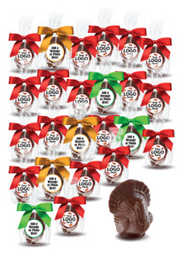 Thanksgiving Solid Milk Chocolate Turkeys - 24 Pc
