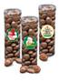 Christmas Colossal Chocolate Raisins - Tall Clear Cylinder