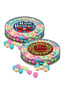 Christmas Chocolate Mints - Flat Clear Cylinder