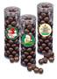 Christmas Dark Chocolate Sea Salt Caramels - Tall Clear Cylinder