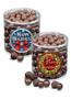 Christmas Dark Chocolate Sea Salt Caramels - Wide Clear Cylinder