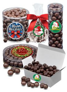 Christmas Dark Chocolate Sea Salt Caramels