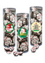 Christmas Peppermint Chocolate Nonpareil - Tall Clear Cylinder