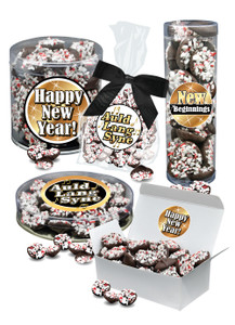 New Year Peppermint Dark Chocolate Nonpareils