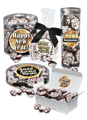 New Year Peppermint Dark Chocolate Nonpareils