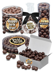 New Year Dark Chocolate Sea Salt Caramels