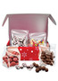 Reindeer Decorated Candy Gift Box - Open